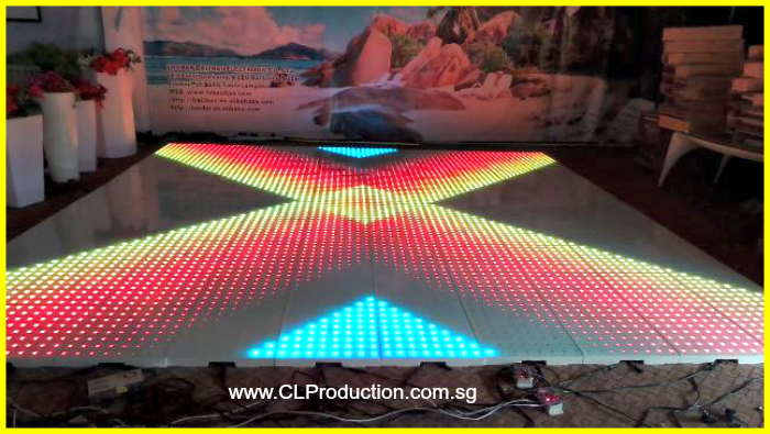 Ldf01 Led Interactive Dance Floor With Stainless Steel